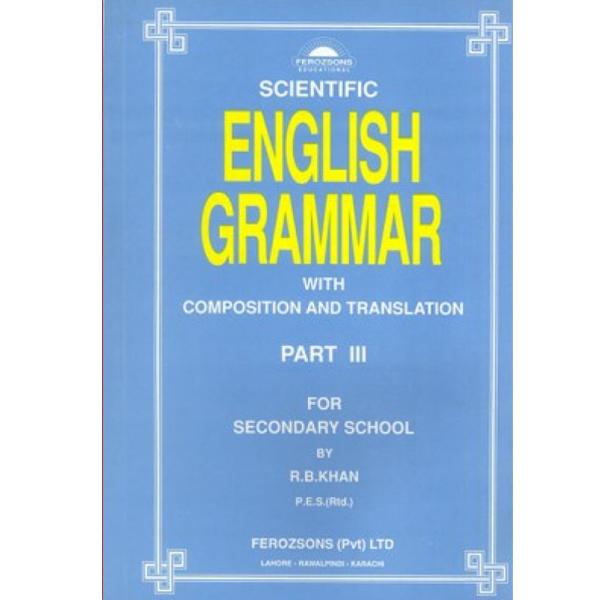 Scientific English Grammar Part Iii Ferozsons