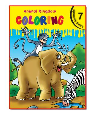 Animal Kingdom Coloring (Land Animals 7)